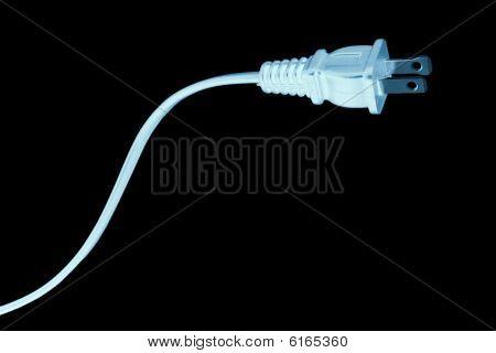 Blue Us Plug On Black
