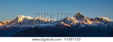 Sunrise On Annapurna Mountains - Himalaya