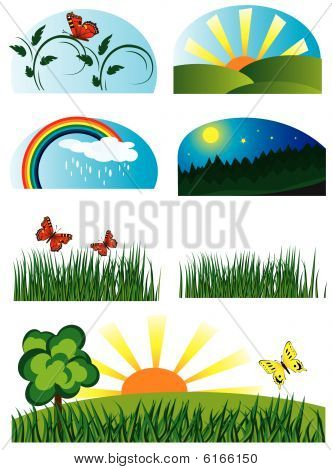 Collection of elements of nature
