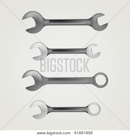 Illustration of wrenches