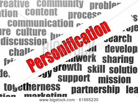 Personification Word Cloud
