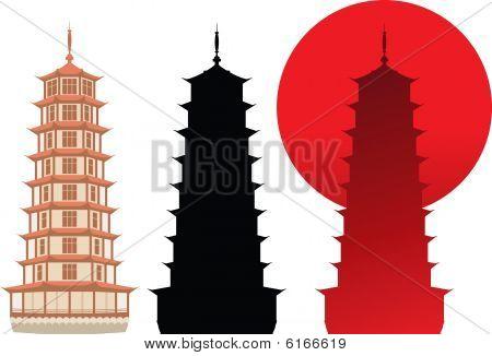 Pagoda Silhouette