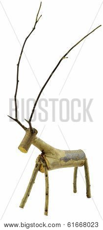Wooden Deer Doll