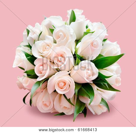 Bridal Bouquet, Pink Background