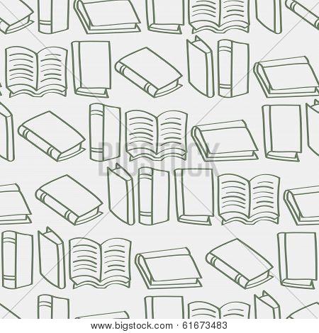 Seamless Cartoon Book Outline background