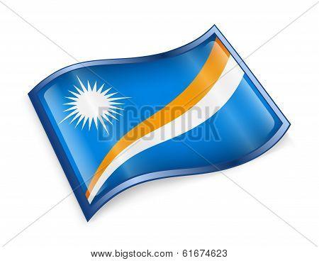 Marshall Islands Flag Icon.