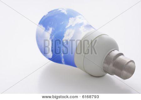 Light Bulb And Blue Sky