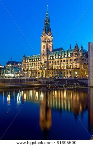The townhall of Hamburg