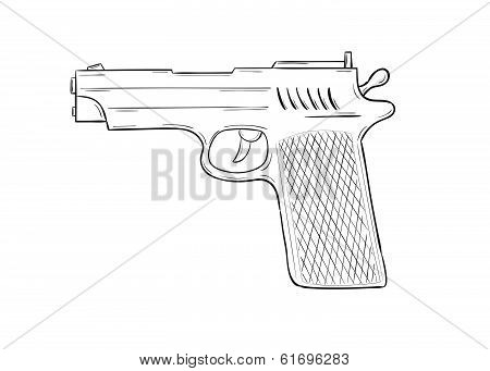 Sketch Of The Gun