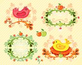 Colorful set of Autumn design elements. To see similar, please VISIT MY GALLERY. poster