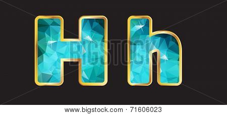 Hh With Gold And Teal