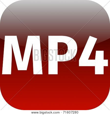 Mp4 Red Download Icon