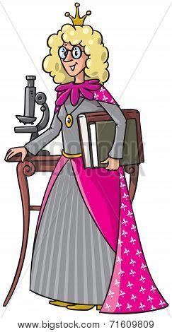 Beautyful queen-scientist