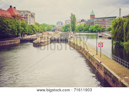 Retro Look River Spree Berlin
