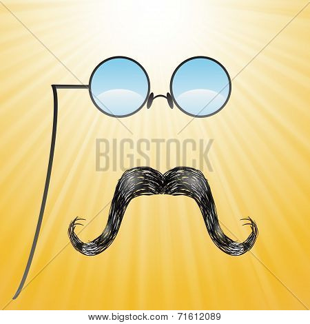 Mustaches And Glasses