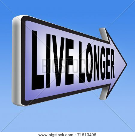 ive longer and stop aging. Anti aging by living healthy and stress free
