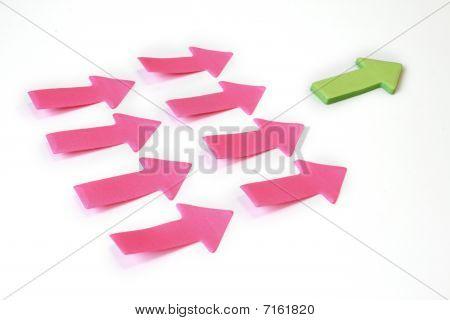 Leader Paper Arrows Bussiness Concept.