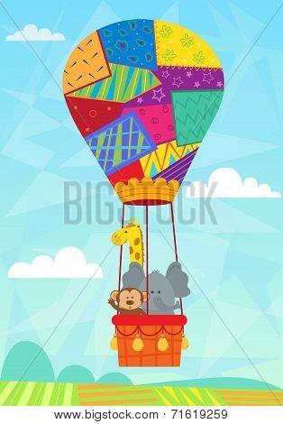 Animal In Hot Air Balloon