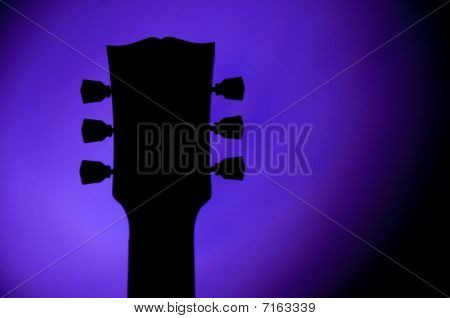Silhouette of a les paul guitar type