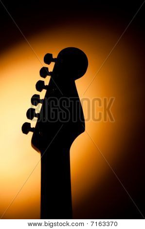 Stratocaster guitar shadow