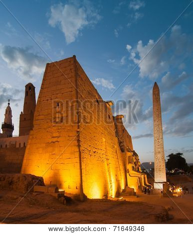 Temple Of Luxor, Egypt At Night