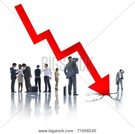 Group of Business People on Economic Crisis