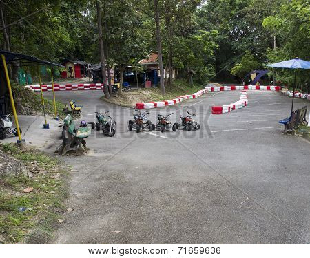 A Field For Kid Atv Racing