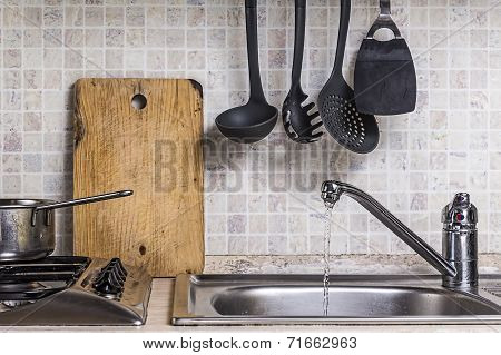 Portion Of A Cooking Floor