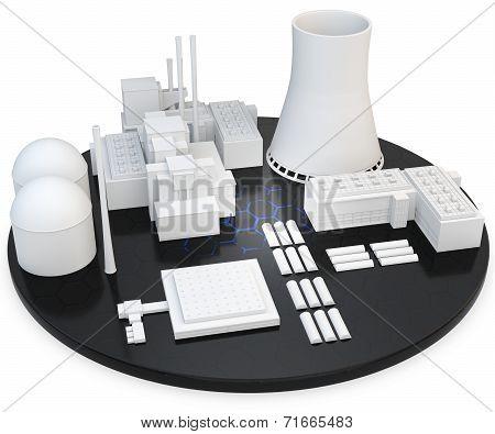 3D Nuclear Power Plant