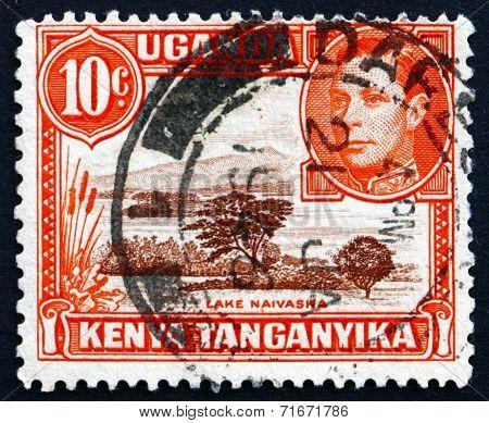 Postage Stamp K., U. And T. 1941 Lake Naivasha