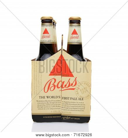 Bass Ale Six Pack End View