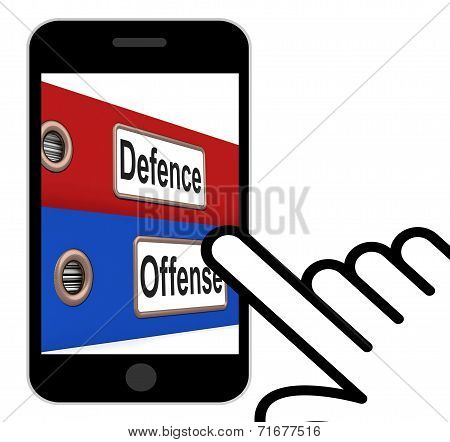 Defence Offense Folders Displays Protect And Attack