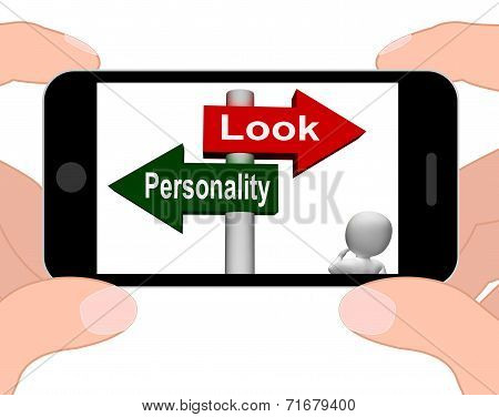 Look Personality Signpost Displays Character Or Superficial