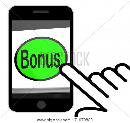 Bonus Button Displays Extra Gift Or Gratuity Online
