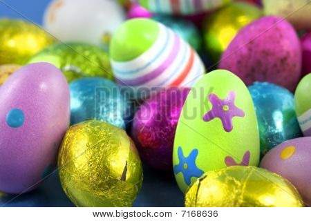 Easter Eggs Macro Shot