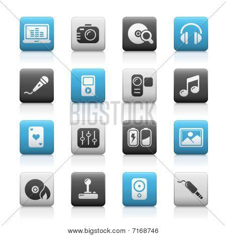Media & Entertainment // Matte Icons Series