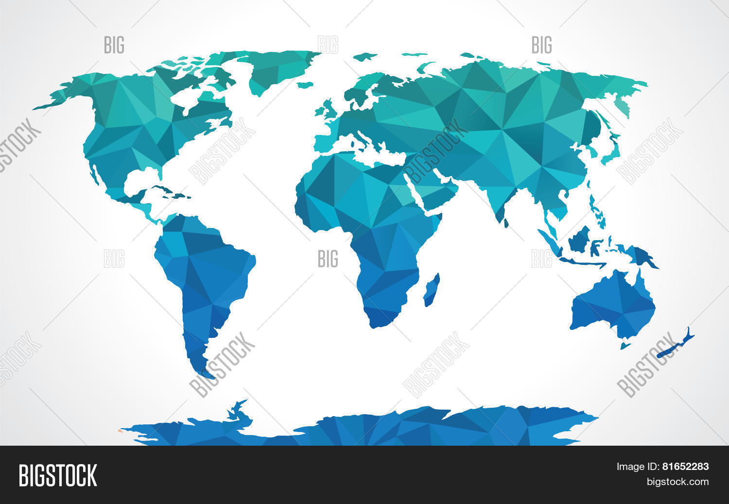 Vector y foto blue polygonal prueba gratis bigstock blue polygonal world map vector gumiabroncs Gallery