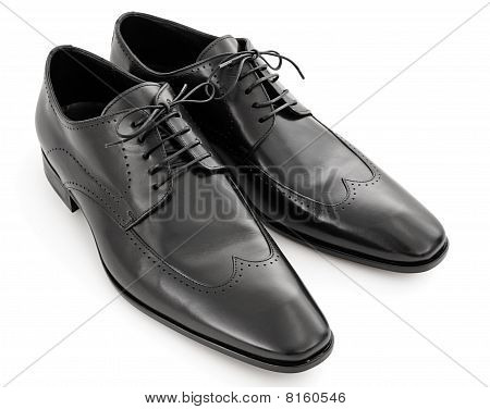Pair Of Black Leather Shoes