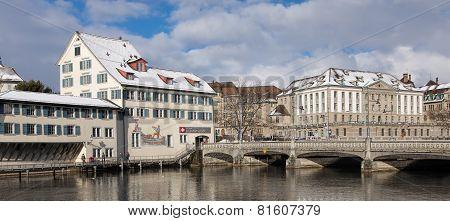 Zurich Winter Cityscape