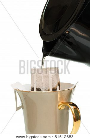 Drip Coffee Isolated White Background