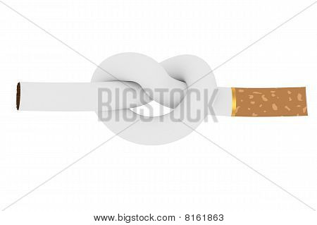 Cigarette Tied To A Knot