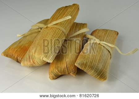 Tamales On White Background