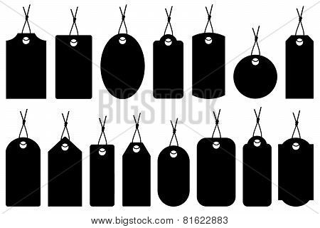 Set of different price tags