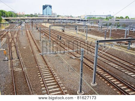 View Of A Large Railway Junction In The Melbourne