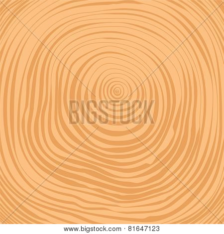 Vector Crosscut Tree Rings Background