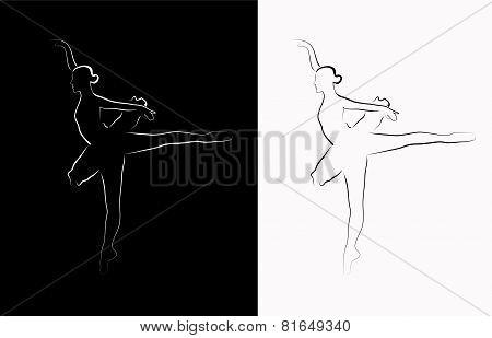 Vector image of a ballerina