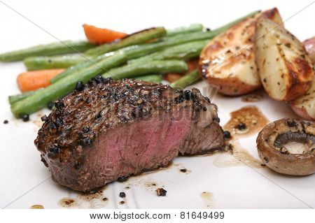 Filet dinner with mushrooms