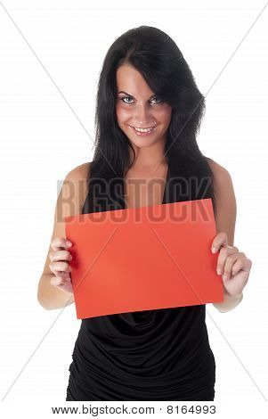beautiful lady holding sheet