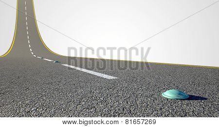 Road Curved Upward
