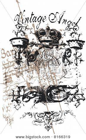 classical heraldic crown emblem